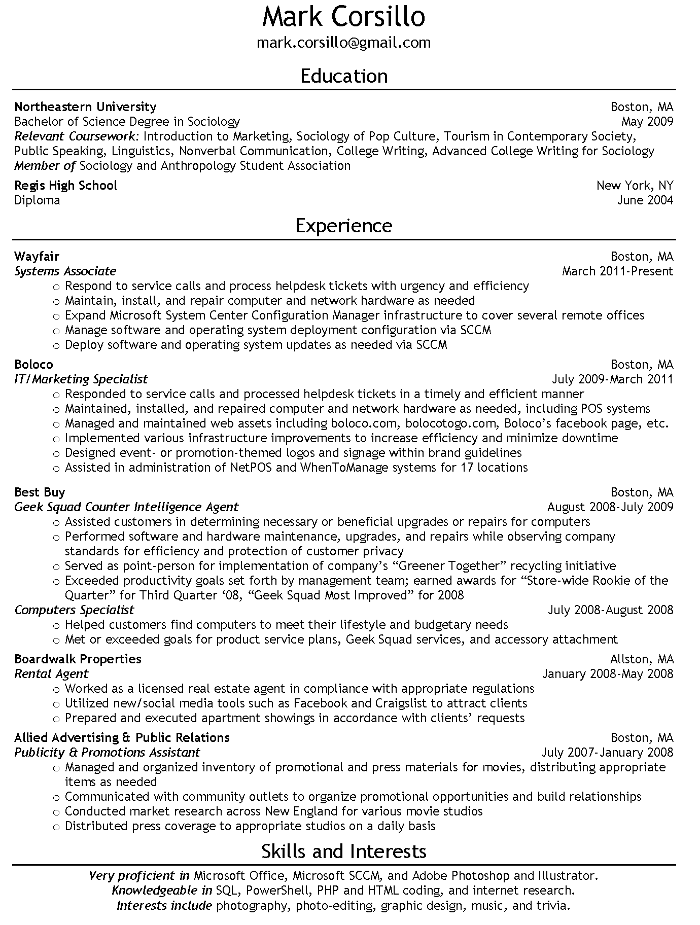 Before You Hit Send – Things To Consider When Sending A Résumé | A ...